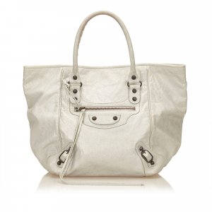 Balenciaga Tote light grey leather