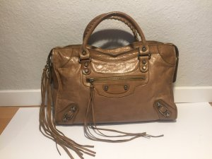 Balenciaga Handbag sand brown leather