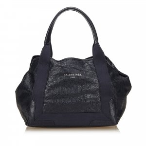 Balenciaga Tote dark blue leather