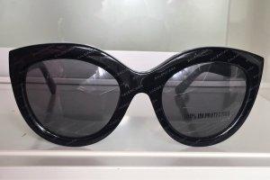Balenciaga Lunettes papillon noir matériel synthétique