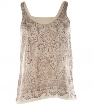Balenciaga paisley Seidentop Hemd cami camisole