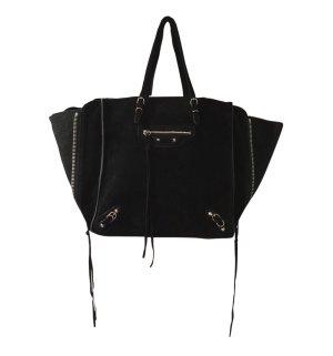 Balenciaga Papier Bag Tasche schwarz Wildleder