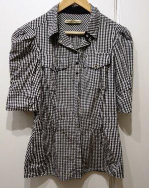 Balenciaga Blusa de manga corta negro-gris claro