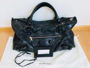 Balenciaga Bolso negro-color plata Cuero