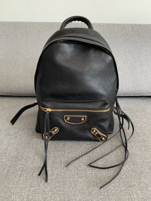 Balenciaga Laptop Backpack black-gold-colored
