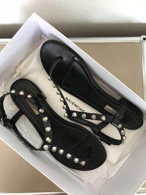 Balenciaga Sandalen Giant aus Leder mit Nieten Schwarz Gr. 39 - nur wenige Male getragen!