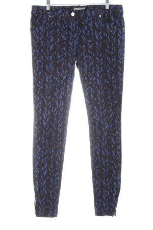 Balenciaga Slim Jeans blau-schwarz grafisches Muster Casual-Look