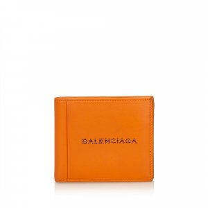 Balenciaga Wallet orange leather