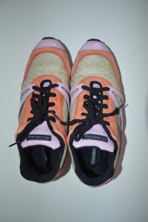 Balenciaga Zapatilla brogue naranja claro-rosa Cuero