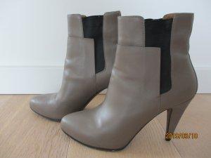 Balenciaga Slip-on Booties taupe leather