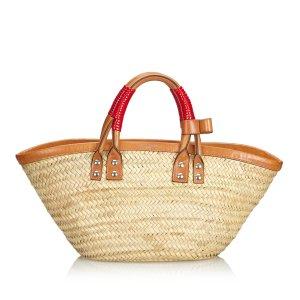Balenciaga Straw Bistrot Panier Handbag