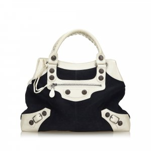 Balenciaga Suede Giant 21 Brief Handbag