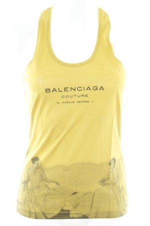 Balenciaga Tanktop limettengelb-neongelb grafisches Muster Casual-Look