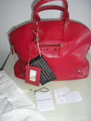 Balenciaga Borsa shopper rosso scuro Pelle