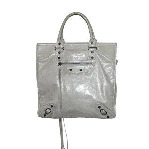 Balenciaga Tote, Tasche aus Leder in Grau