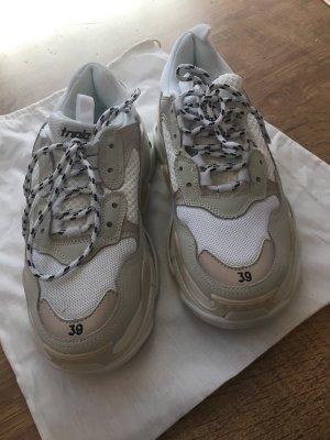 Balenciaga Sneaker stringata bianco-bianco sporco