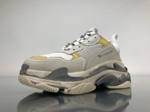 Sneaker argento-giallo lime