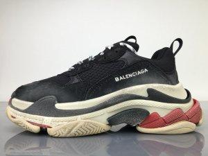 Sneaker nero-rosso