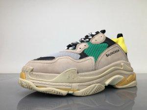 Sneaker marrone-verde