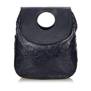 Balenciaga Two Tone Patent Leather Ottoman Dupionne