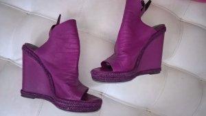 Balenciaga Wedge Sandals multicolored leather