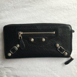 Balenciaga Zip Geldbörse schwarz