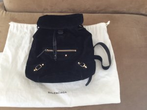 Balenciaga Trekking Backpack black suede