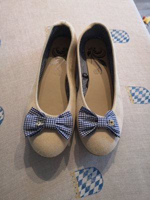 Ballerinas cream-dark blue