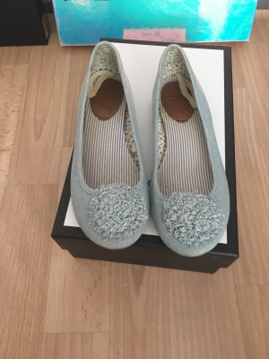 Zara Mary Jane Ballerinas azure