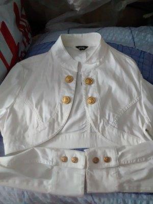 Melrose Bolero bianco-oro Cotone