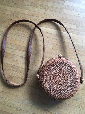 Bolso tipo cesta marrón claro