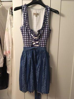 Lekra Dirndl blanc-bleu coton