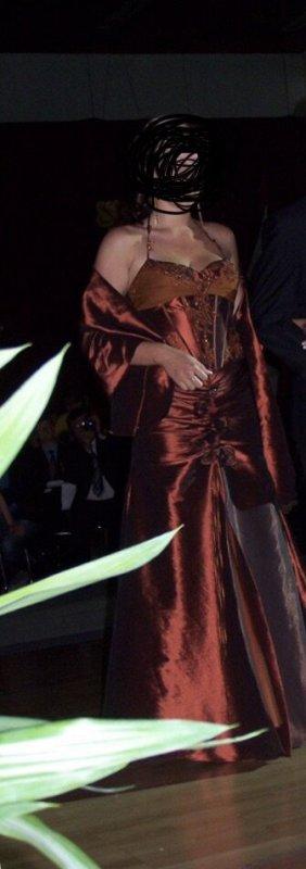 Ball Dress cognac-coloured-brown