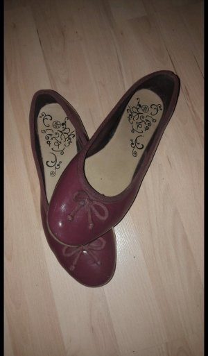 Patent Leather Ballerinas blackberry-red-brown violet