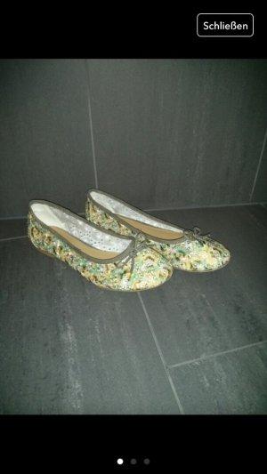 Ballarinas Tamaris Blumen grün Khaki braun Schuhe Sommer Sandalen 39