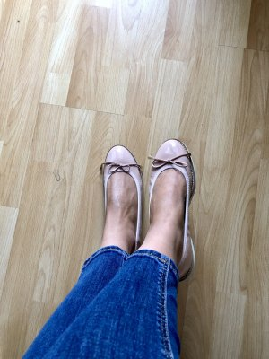 Cypres Patent Leather Ballerinas pink