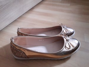 Patent Leather Ballerinas rose-gold-coloured