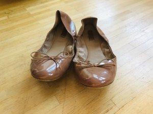Zara Patent Leather Ballerinas multicolored