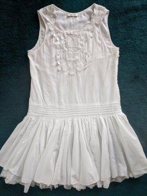 Ballerina-Baumwollkleid weiß von Malvin