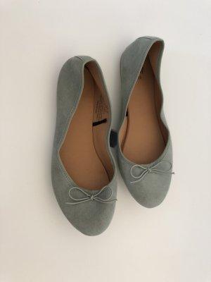 H&M Mocassins gris vert-bleu pâle
