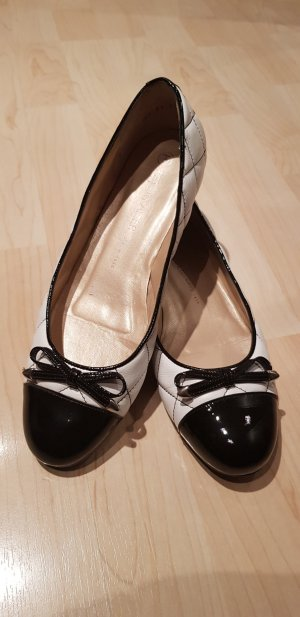 Peter Kaiser Patent Leather Ballerinas white-black