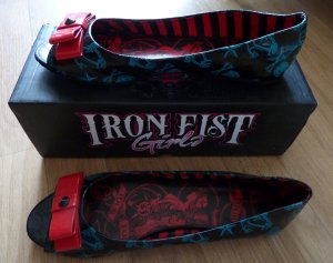 Iron fist Ballerines à bout ouvert multicolore faux cuir