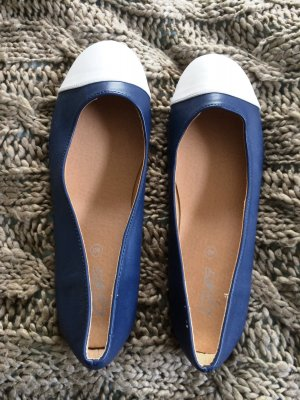 Patent Leather Ballerinas blue-white others