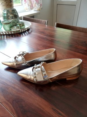 Pinko Ballerinas with Toecap silver-colored