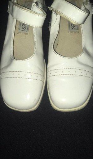 Patent Leather Ballerinas white-natural white