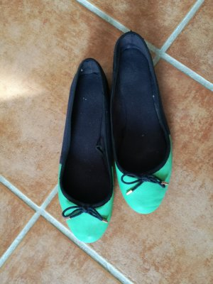 Slingback Ballerinas dark blue-mint
