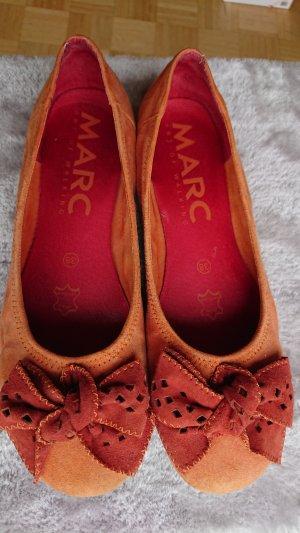 MARC Bailarinas con tacón Mary Jane naranja-rojo