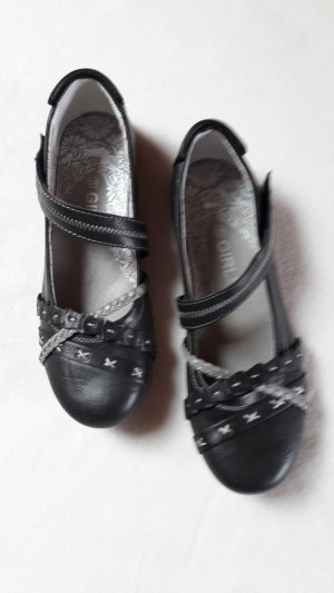 Strappy Ballerinas black-silver-colored