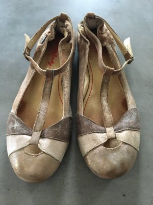 Miss Sixty Mary Jane Ballerinas gold-colored-bronze-colored