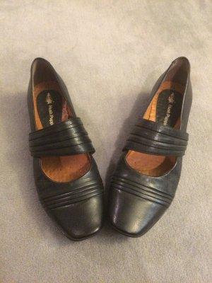 Ballerina zwart Leer